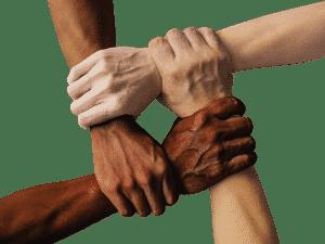 4 mains entrecroisées